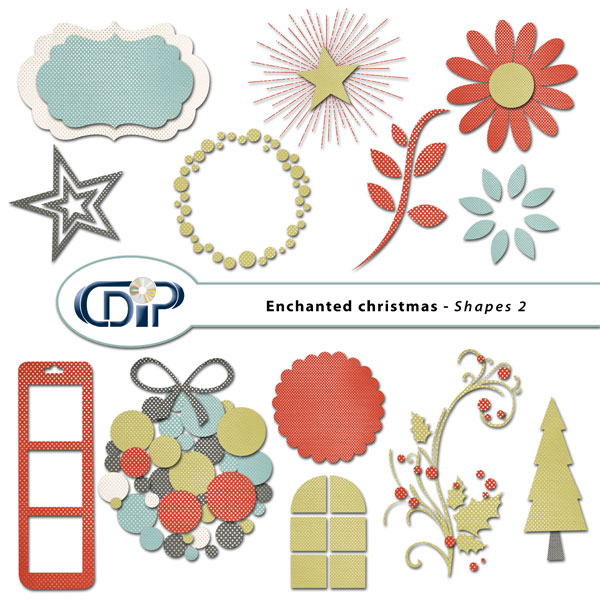 """Enchanted Christmas"" digital kit - 06 - Shapes 2"