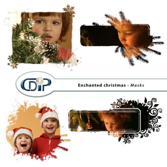 """Enchanted Christmas"" digital kit - 08 - Masks"