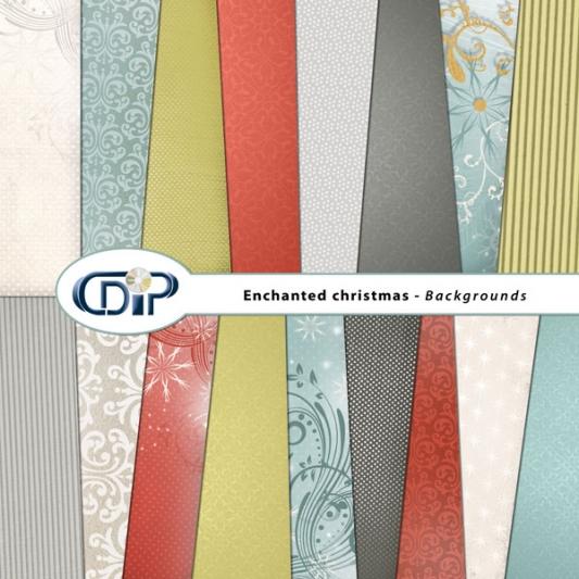 """Enchanted Christmas"" digital kit - 01 - Backgrounds"