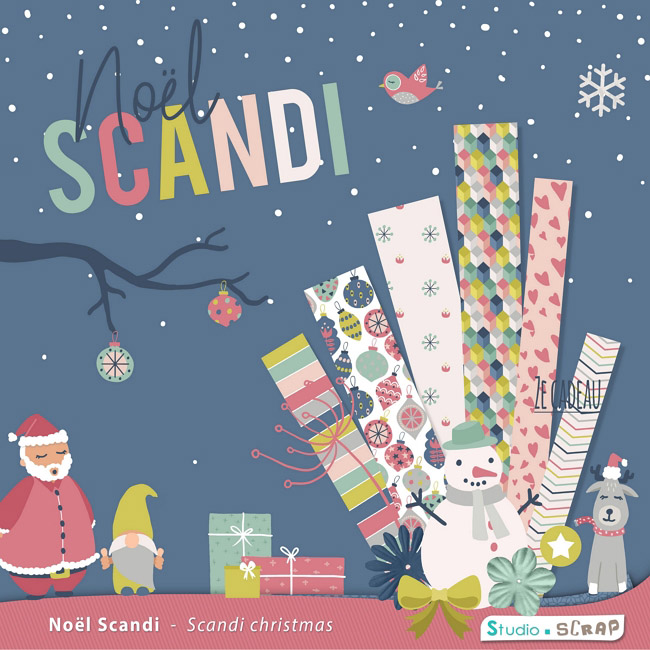 kit scrapbooking Noël scandi