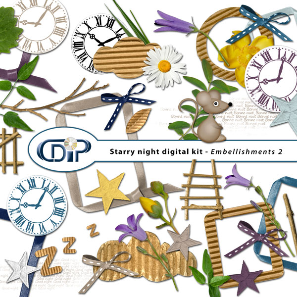 """Starry Night"" digital kit - 03 - Embellishments 2"