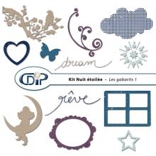 Kit « Nuit étoilée » - 05 - Les gabarits 1