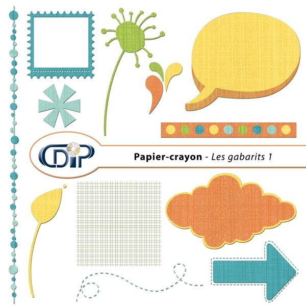 Kit « Papier crayon » - 05 - Les gabarits 1