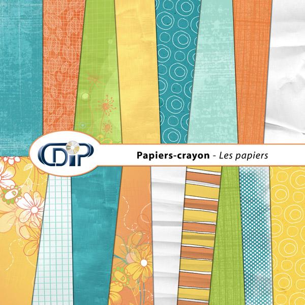 Kit « Papier crayon » - 01 - Les textures