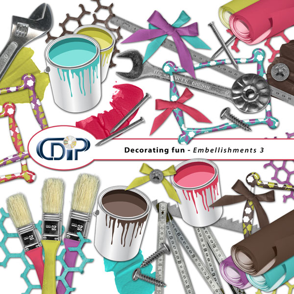 """Decorating fun"" digital kit - 04 - Embellishments 3"