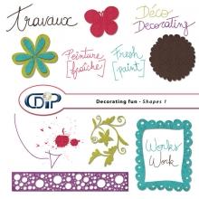 """Decorating fun"" digital kit - 05 - Shapes 1"