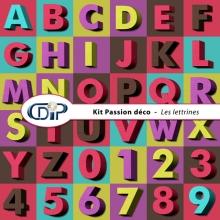 Kit « Passion déco » - 07 - Les lettrines