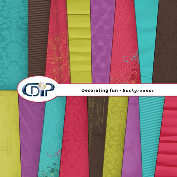 """Decorating fun"" digital kit - 01 - Backgrounds"