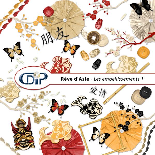 Kit « Rêve d'asie »  - 02 - Les embellissements 1