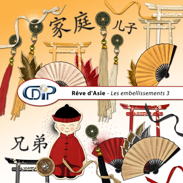Kit « Rêve d'asie »  - 04 - Les embellissements 3