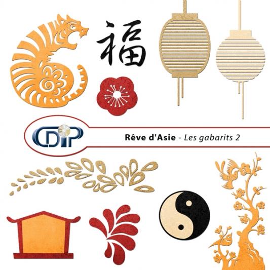 Kit « Rêve d'asie »  - 06 - Les gabarits 2