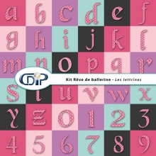 Kit « Rêve de ballerine » - 08 - Les lettrines