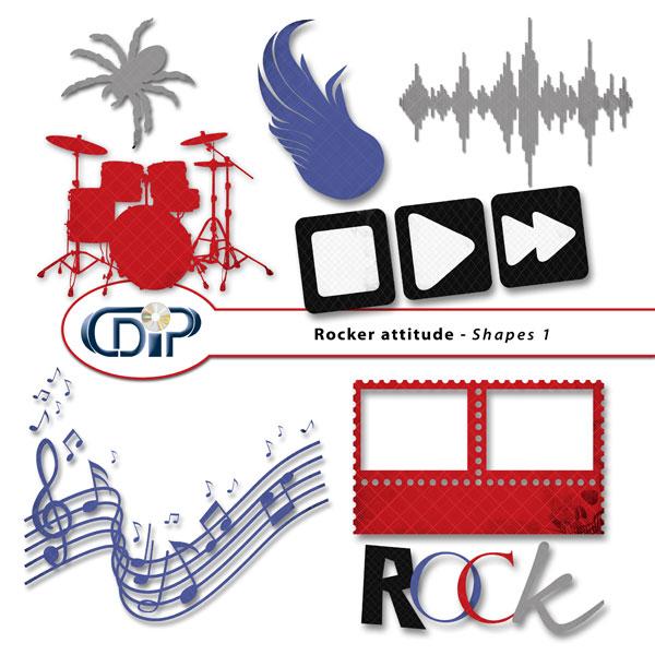 """""""Rocker attitude"""" digital kit - 05 - Shapes 1"""