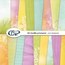 Kit « Souffle printanier » - 01 - Les textures