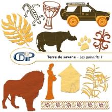 Kit « Terre de savane » - 05 - Les gabarits 1