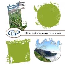 Kit « Un été à la montagne » - 08 - Les masques