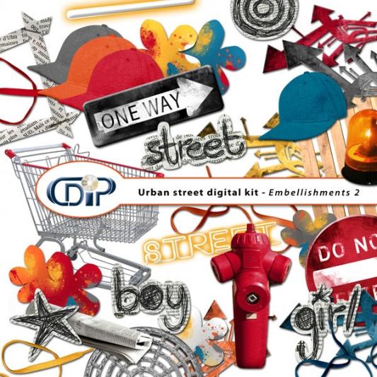 """""""Urban Street"""" digital kit - 03 - Embellishments 2"""