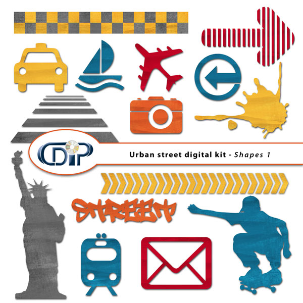 """Urban Street"" digital kit - 05 - Shapes 1"