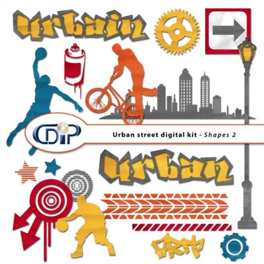 """Urban Street"" digital kit - 06 - Shapes 2"