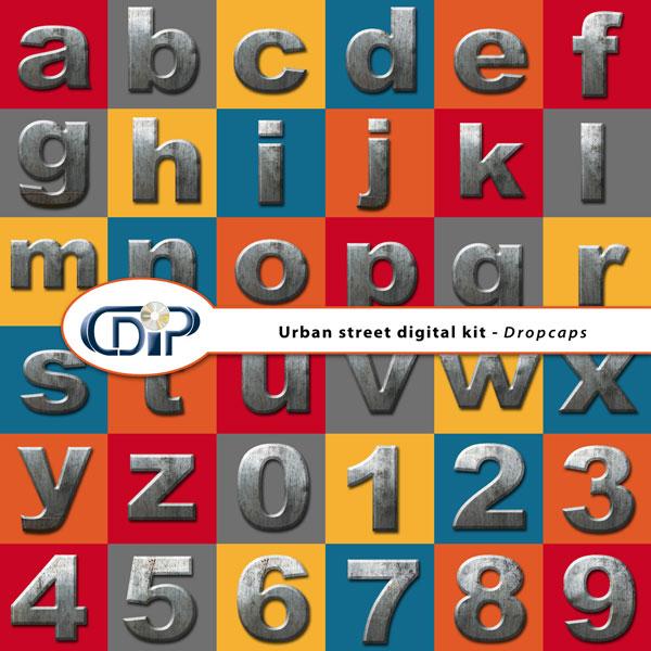 """""""Urban Street"""" digital kit - 07 - Dropcaps"""