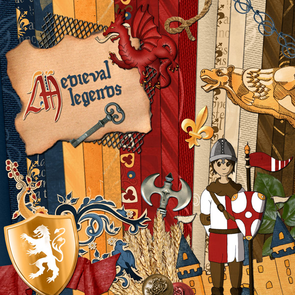 « Medieval legends » digital kit - 00 - Presentation