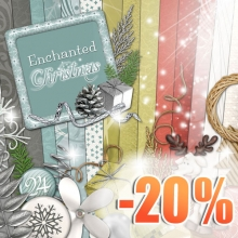 """Enchanted Christmas"" digital kit - 00 - Presentation - 20 ans"