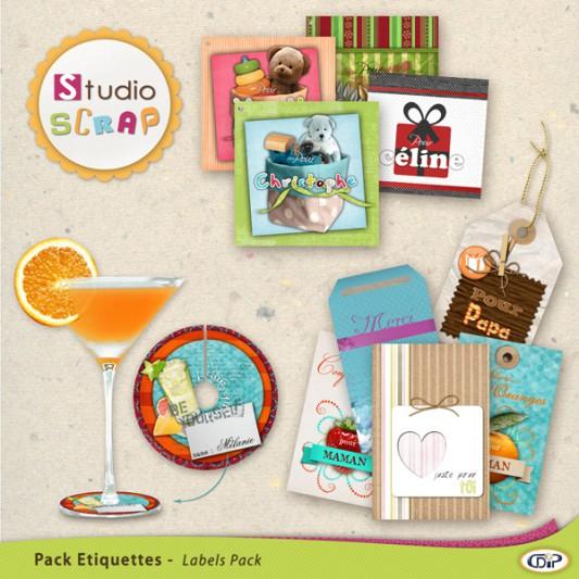 Pack de stickers Fêtes et Cadeaux