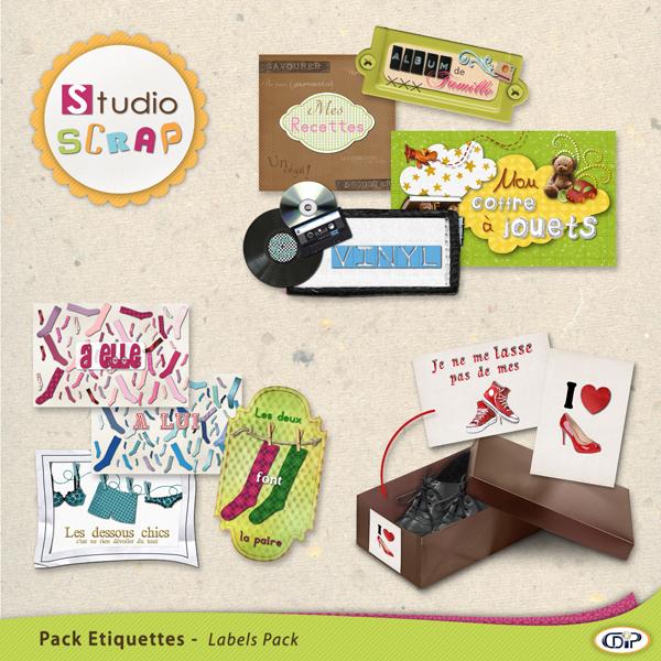 "Mini-pack de stickers ""Rangements et organisations"""