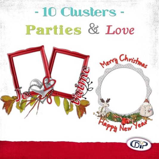 Cluster frames - 01 - Love & parties - presentation