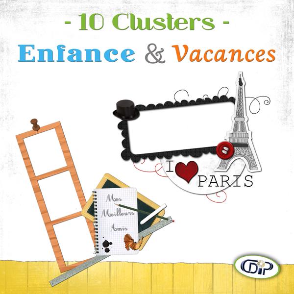 Pack Cluster - 07 - Enfance et vacances - Présentation