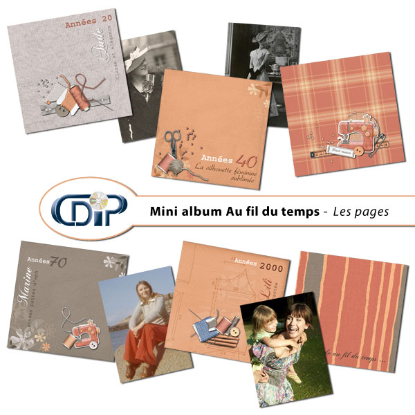 Mini-album « au fil du temps » - 01 - Les pages