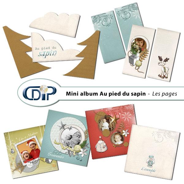 Mini-album « Au pied du sapin » - 01 - Les pages