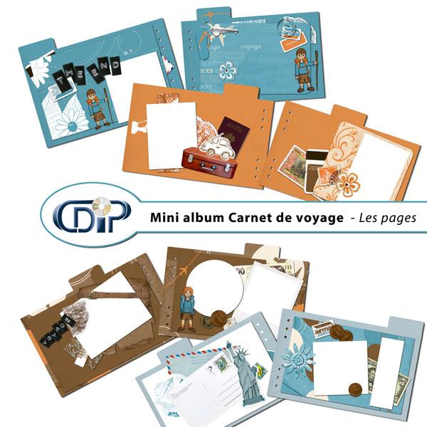 Mini-album « Carnet de voyage » - 01 - Les pages