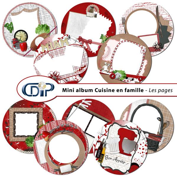 Mini-album « Cuisine en famille » - 01 - Les pages