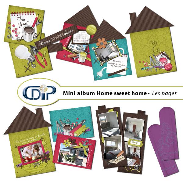 Mini-album « Home sweet home » - 01 - Les pages