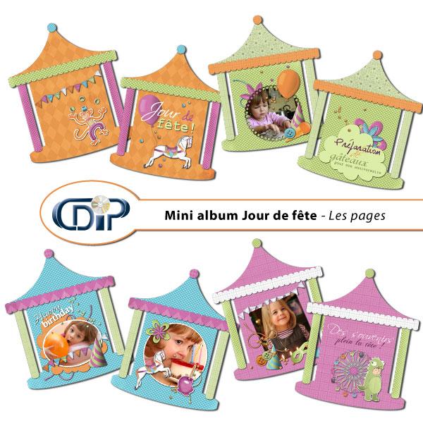Mini-album « Jour de fête » - 01 - Les pages