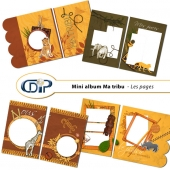 Mini-album « Ma tribu » - 01 - Les pages
