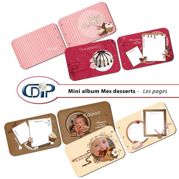 Mini-album « Mes desserts » - 01 - Les pages