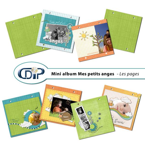 Mini-album « Mes petits anges » - 01 - Les pages