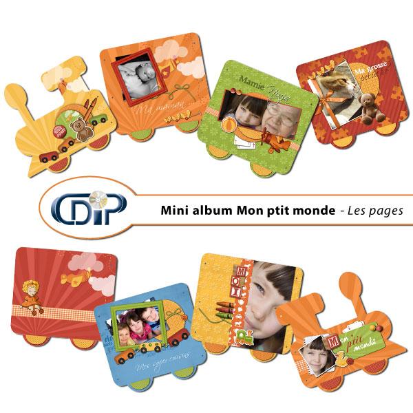 Mini-album « Mon petit monde » - 01 - Les pages