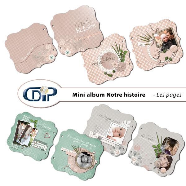 Mini-album « Notre histoire » - 01 - Les pages