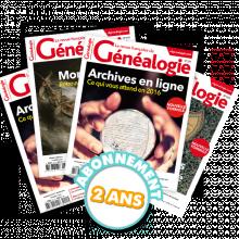 La Revue française de Généalogie - Abonnement pour 2 ans