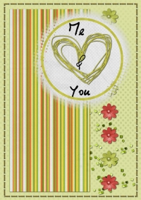 « Love cards » card templates - 49 - Composition
