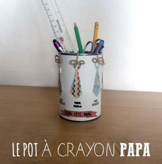 En version pot à crayon