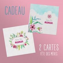 """2 cartes """"Fête des Mères"""" - (gratuites)"""