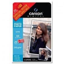 Papiers - 15 - Canson photo - satiné - 210g - promo