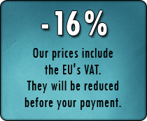 Prices shown include taxes for European countries. Outside the European Union, a 16% discount will be applied.