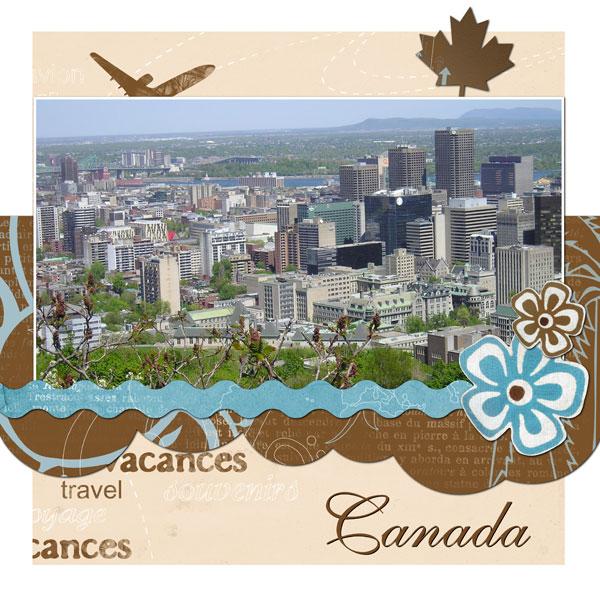 Voyage au Canada  oct. 2007  Mes petites réalisations ... et autres