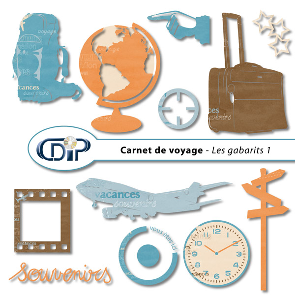 kit carnet de voyage en t l chargement cdip boutique logiciel de g n alogie et scrapbooking. Black Bedroom Furniture Sets. Home Design Ideas