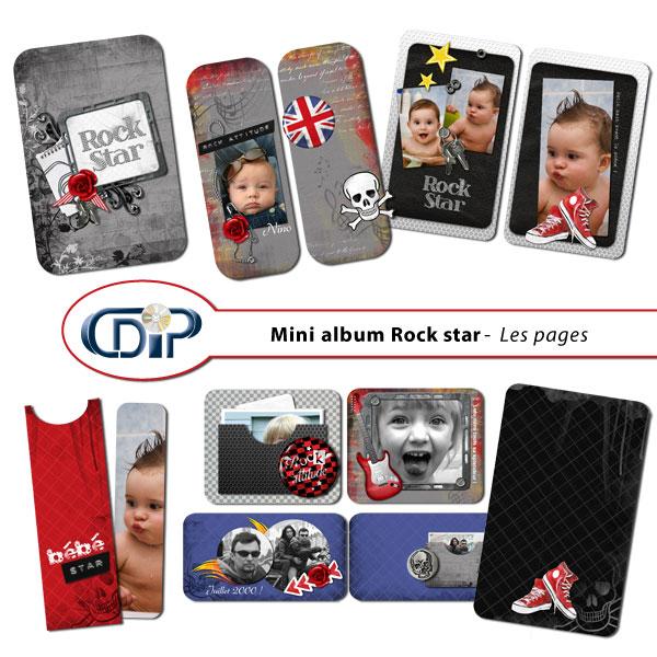 mini album rock star en t l chargement cdip boutique logiciel de g n alogie et scrapbooking. Black Bedroom Furniture Sets. Home Design Ideas